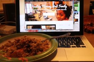 Blogging and apple crisp my favorite things :)